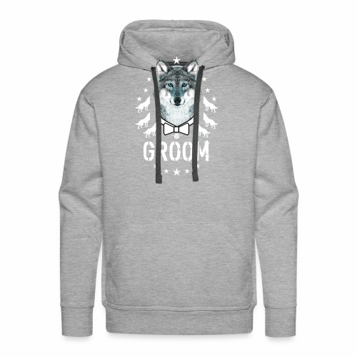 161 Wolf JGA GROOM Wolfpack Sterne - Männer Premium Hoodie