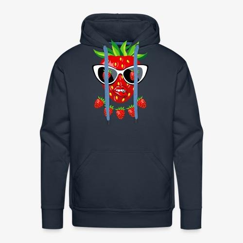Süße Erdbeere Kussmund Sonnenbrille 23 - Männer Premium Hoodie