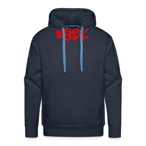 #EASY Graffiti Logo T-Shirt - Felpa con cappuccio premium da uomo