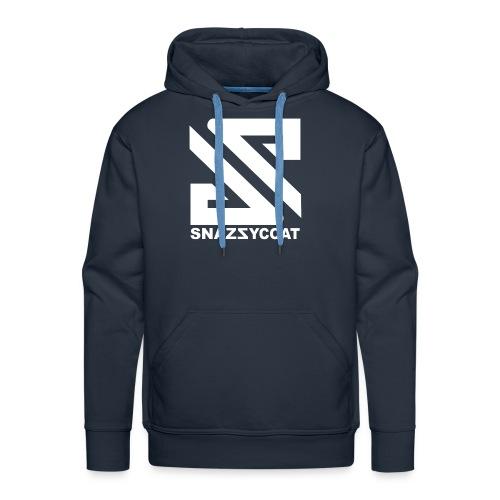 logo snazzycoat wit merch - Mannen Premium hoodie