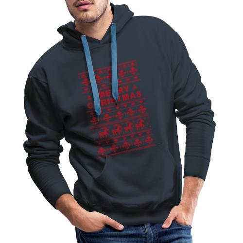 Ugly Sweater Merry Christmas - Männer Premium Hoodie
