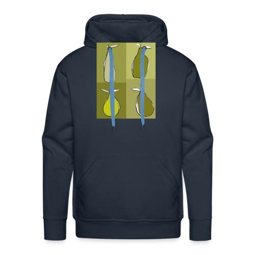green pears - Sweat-shirt à capuche Premium pour hommes