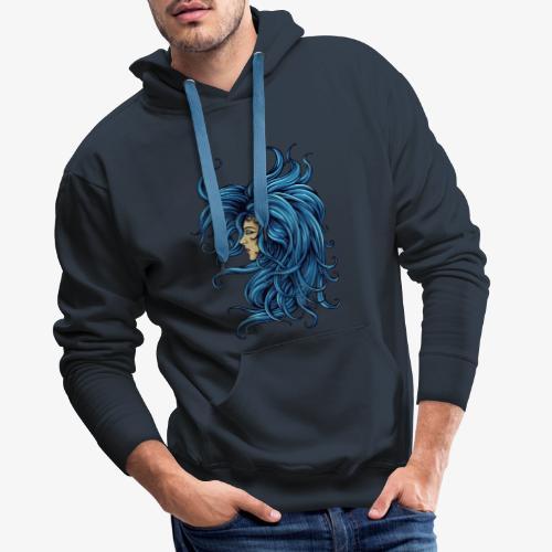 Dame dans le bleu - Sweat-shirt à capuche Premium pour hommes