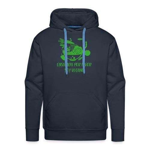 camiseta diseño vegano, vegetariano para hombre - Sudadera con capucha premium para hombre