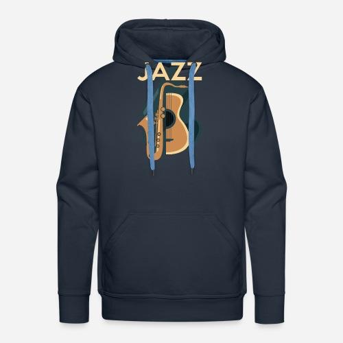 Jazz Gitarre mit Saxophon - Männer Premium Hoodie