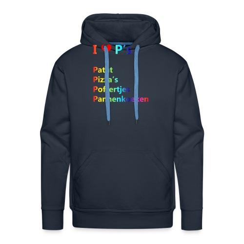 Ik hou van P kindershirt - Mannen Premium hoodie