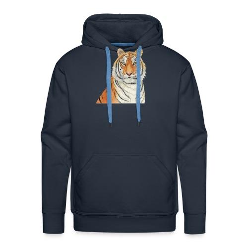 Tigre,Tiger,Wildlife,Natura,Felino - Felpa con cappuccio premium da uomo