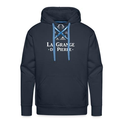 La Grange de Pierre Blue Cross Light - Sweat-shirt à capuche Premium pour hommes