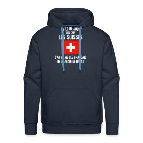 Et le 8ème jour Suisse - Sweat-shirt à capuche Premium pour hommes