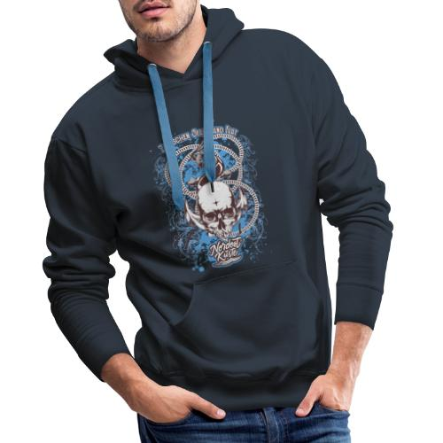 Skull Anker Design Art - Männer Premium Hoodie