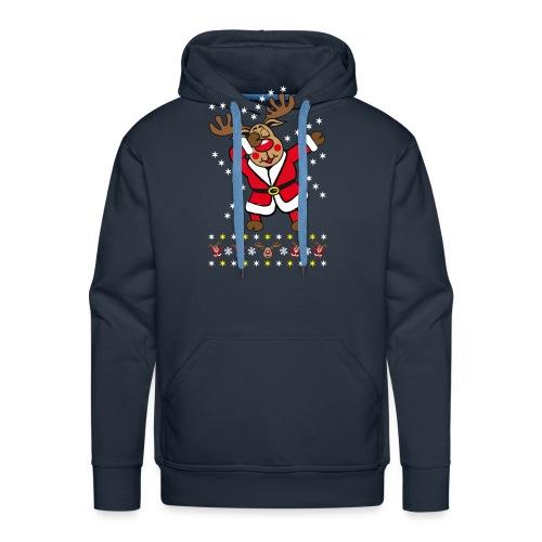 87 Dabbing Reindeer Rentier Hirsch Rudolph Funny - Männer Premium Hoodie