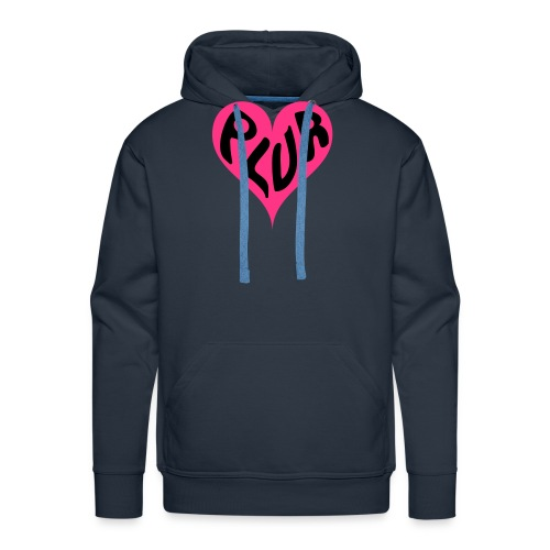 PLUR - Peace Love Unity and Respect love heart - Men's Premium Hoodie