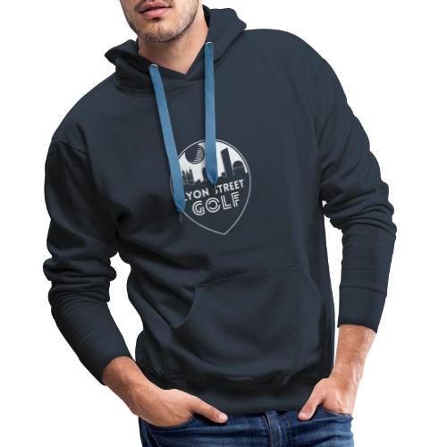 LOGO LYON STREET GOLF BLANC - Sweat-shirt à capuche Premium pour hommes