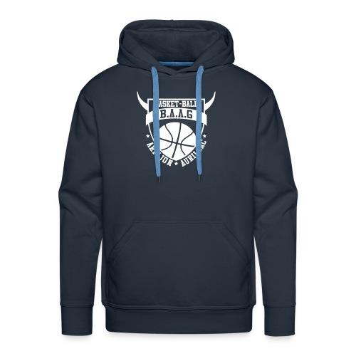 logo baag bleu vectoris spredshirt - Sweat-shirt à capuche Premium pour hommes