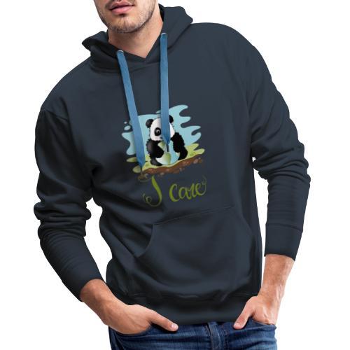 iCare - Felpa con cappuccio premium da uomo