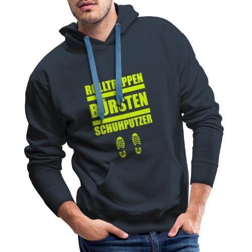 Rolltreppenbürstenschuhputzer - Männer Premium Hoodie