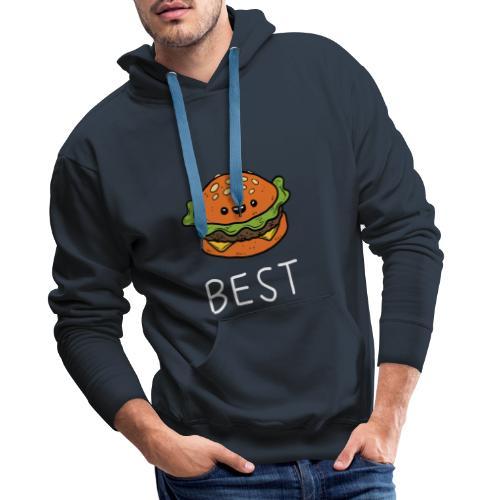 Beste Friends Burger und Pommes Partnerlook - Männer Premium Hoodie