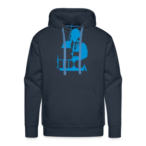 b100 logo gecorrigeerd - Mannen Premium hoodie