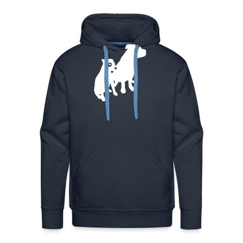Doggy / zwei brave Hunde zum verschenken - Männer Premium Hoodie