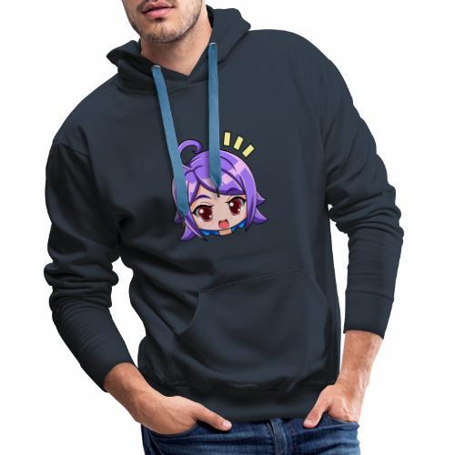 expresiones chica - Sudadera con capucha premium para hombre