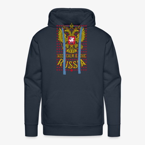 120 Keep Calm and Love Russia Wappen Sterne - Männer Premium Hoodie
