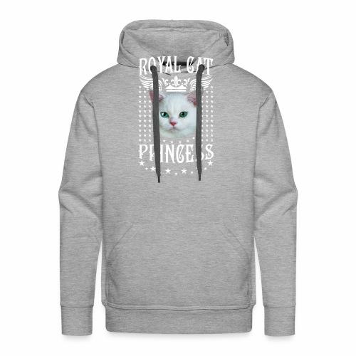 26 Royal Cat Princess white feine weiße Katze - Männer Premium Hoodie