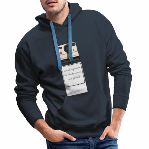 polaroid - Felpa con cappuccio premium da uomo