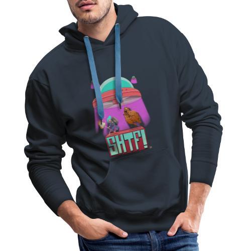 SHTF Battle - Felpa con cappuccio premium da uomo