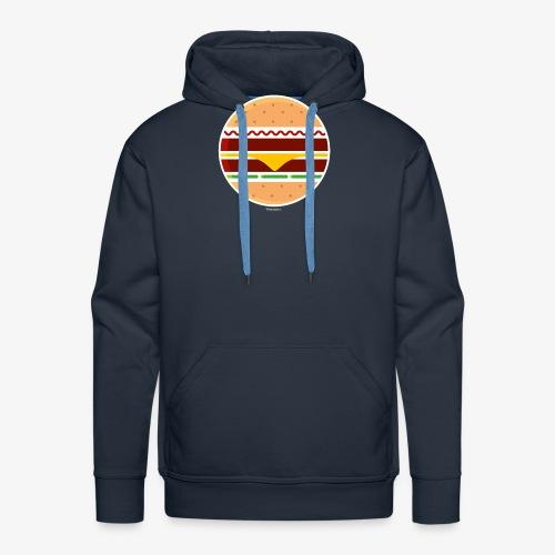 Circle Burger - Felpa con cappuccio premium da uomo