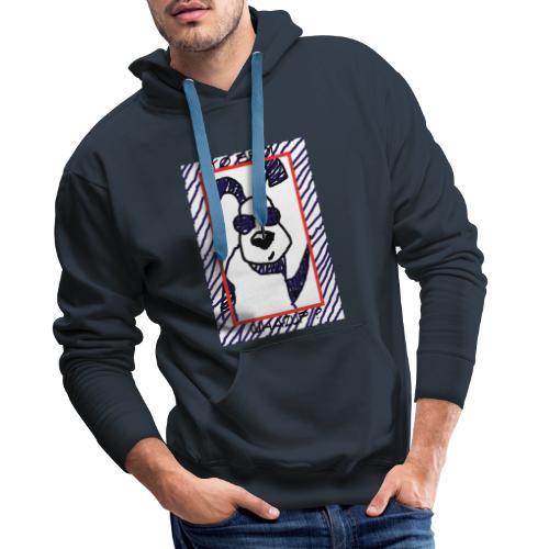 doggy star - Felpa con cappuccio premium da uomo