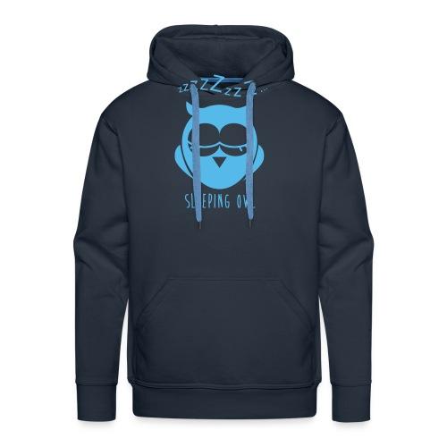 chouette qui dort - Sweat-shirt à capuche Premium pour hommes