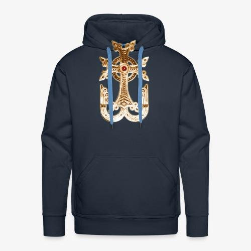 Armenisches Kreuz / Armenian Cross Gold Metallic - Männer Premium Hoodie