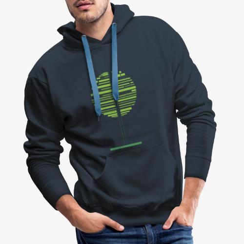 Albero verde - Felpa con cappuccio premium da uomo