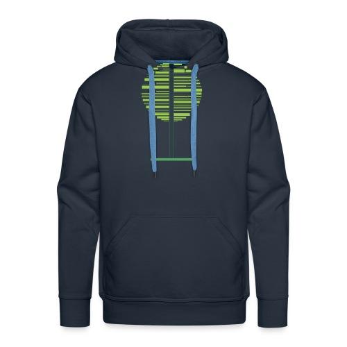 Zielone drzewo - Bluza męska Premium z kapturem