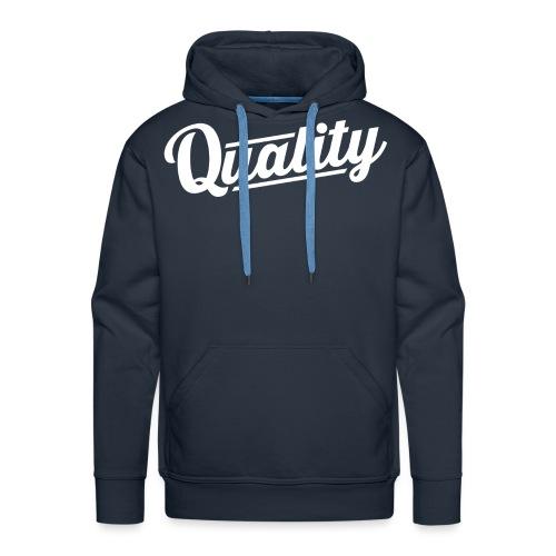 Slanted Quality Design png - Men's Premium Hoodie