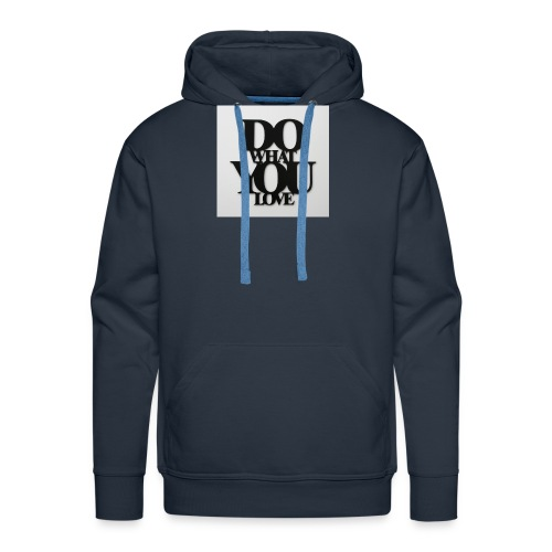napis-na-sciane-do-what-you-love-czarny-jpg - Bluza męska Premium z kapturem