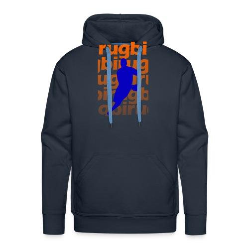 Silueta rugbi home - Sudadera con capucha premium para hombre