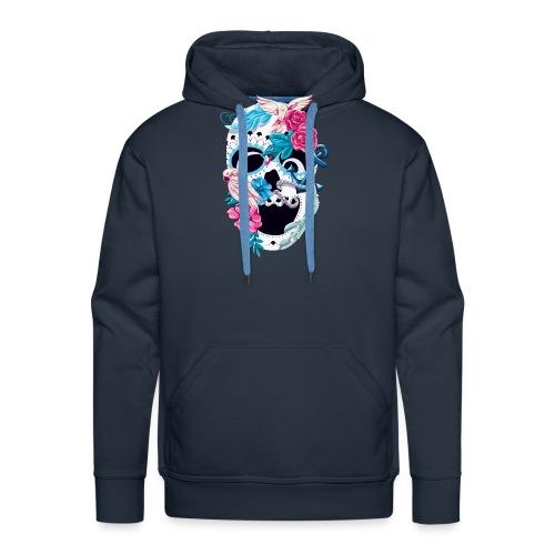 Floral Skull - Männer Premium Hoodie