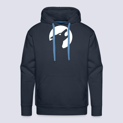 Werwolf Logo weiß - Männer Premium Hoodie