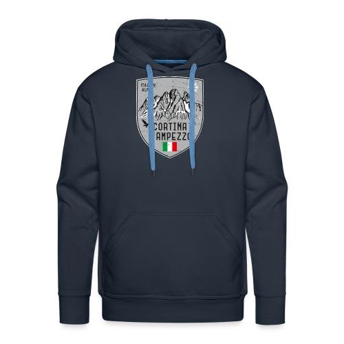 Cortina d Ampezzo Italien Wappen - Men's Premium Hoodie