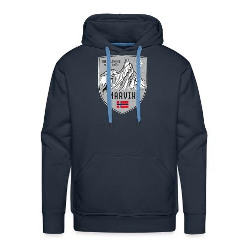 Narvik Norway coat of arms - Men's Premium Hoodie