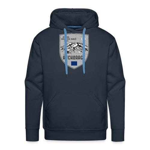 Alaska USA coat of arms - Men's Premium Hoodie