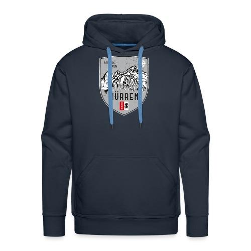 Eiger, Mönch und Jungfrau mit Mürren Flagge - Men's Premium Hoodie
