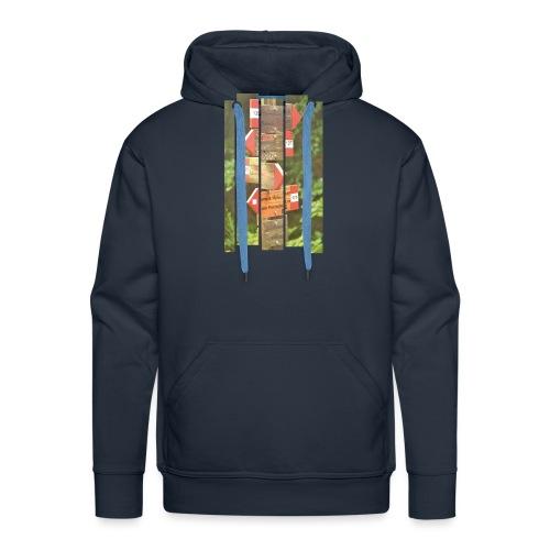 De verwarde hike - Mannen Premium hoodie