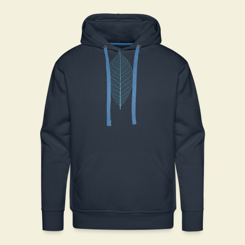 Feuille bleu Squelette - Sweat-shirt à capuche Premium pour hommes