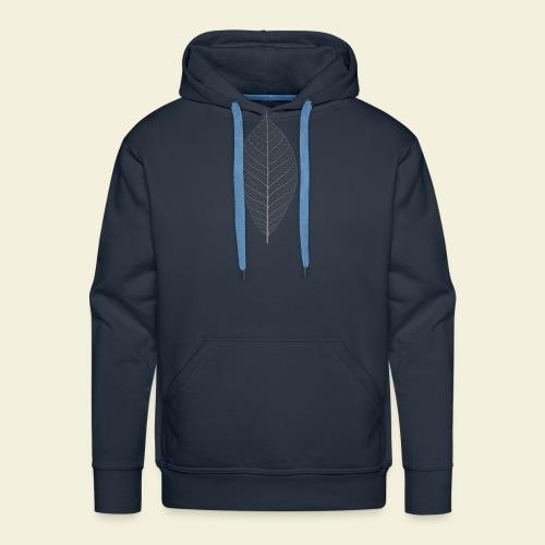 Feuille marron Squelette - Sweat-shirt à capuche Premium pour hommes