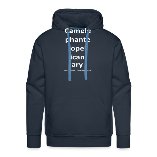 camelepha 5lines white - Men's Premium Hoodie