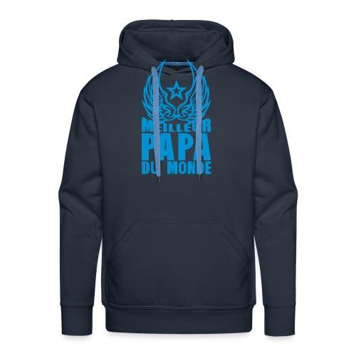 meilleur papa du monde aile etoile logo - Sweat-shirt à capuche Premium pour hommes