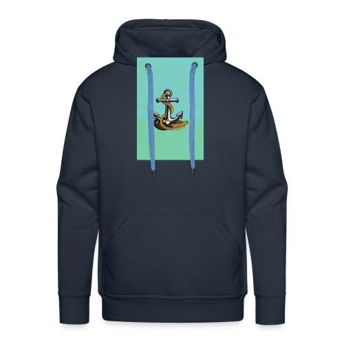 Ancla - Sudadera con capucha premium para hombre
