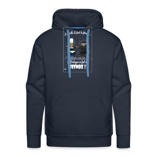 fitnoz - Sweat-shirt à capuche Premium pour hommes